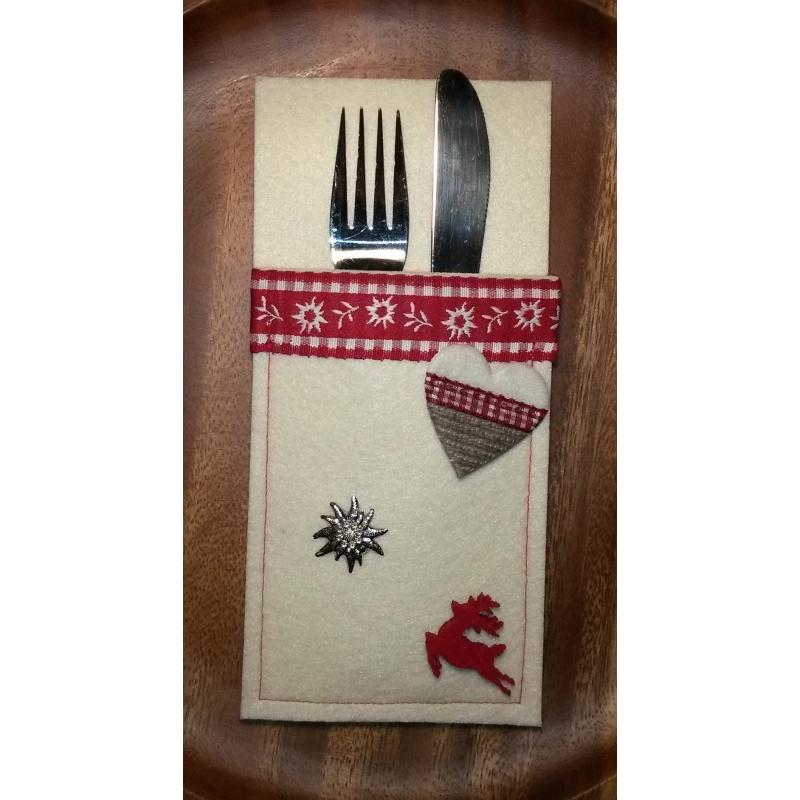 Servietten Bestecktasche filz servietten oder bestecktasche design edelweiß 6 99 eur