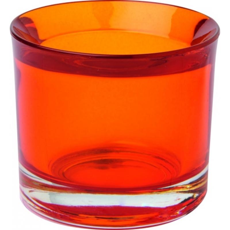 glas teelicht halter orange 3 90 allerlei und mehr. Black Bedroom Furniture Sets. Home Design Ideas