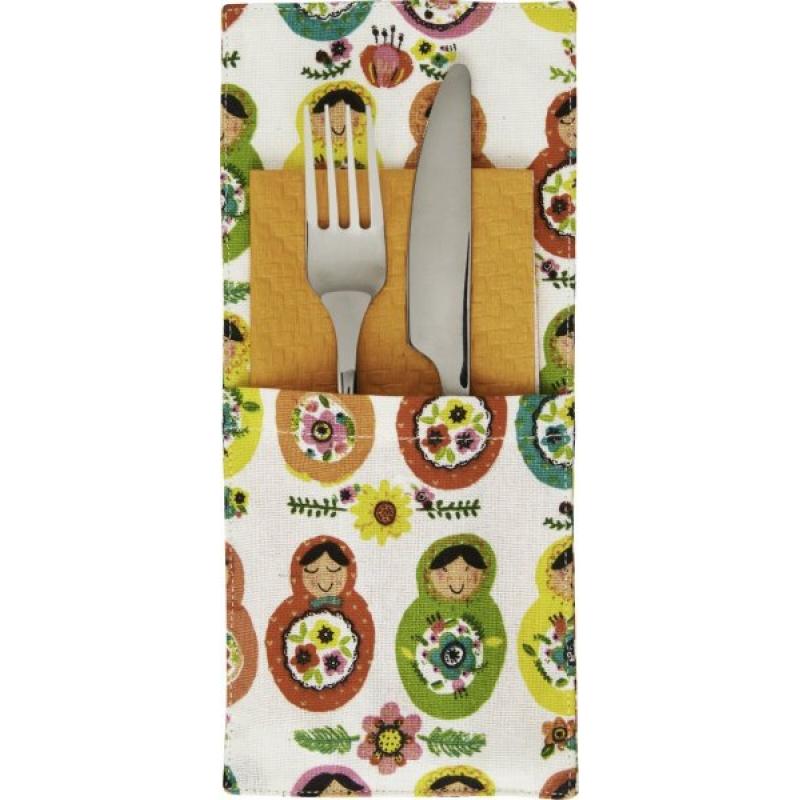 Servietten Bestecktasche matroschka textil servietten oder bestecktasche 7 99