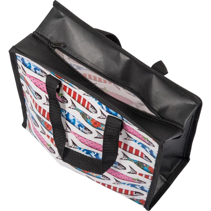 les sardines cabas tasche mit reissverschluss 5 99 allerlei. Black Bedroom Furniture Sets. Home Design Ideas