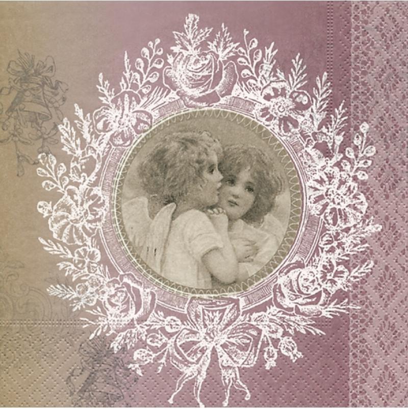 nostalgie engel whispering angels 33 x 33 cm 3 50. Black Bedroom Furniture Sets. Home Design Ideas