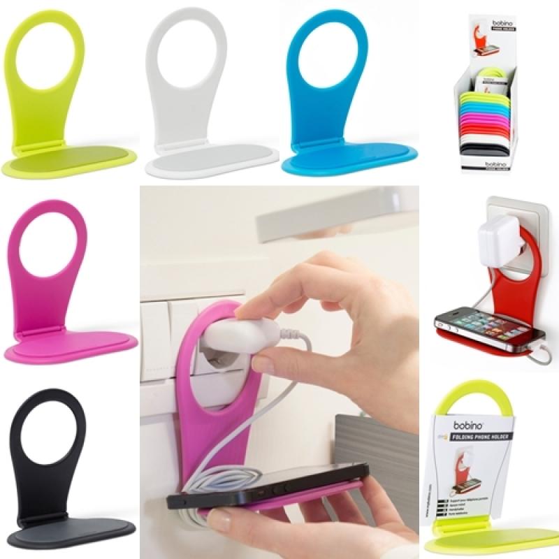 phone holder smartphone handy telefon halter f r steckdose bobin. Black Bedroom Furniture Sets. Home Design Ideas