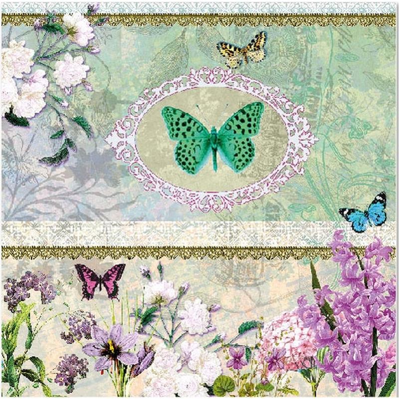 Butterfly Medaillon Blumen Schmetterling 260 Allerlei Und