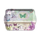 Butterfly Medaillon Schmetterling Blume Snack Tablett