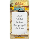 VW Bulli Let´s Get Lost Notizblock-Schild