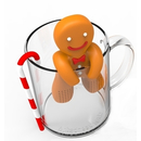 Gingerbread Man Tea Infuser Teesieb 2 tlg