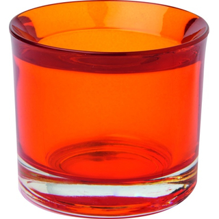 Glas Teelicht Halter orange
