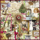 Nostalgie Weihnachts Christmas Collage Sweet Pac  33 x 33 cm