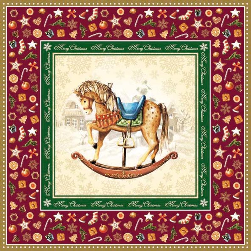 Schaukelpferd Weihnachten Rocking Horse, 3,65 € - Allerlei und