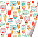 Retro Treats Leckereien  Napkins  33 x 33 cm