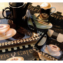 3 tlg Set. Paris Cafe Tasse Untersetzer Snack Tablett
