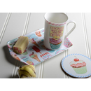 3 tlg Set. Retro Treats Tasse Untersetzer Snack Tablett